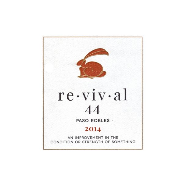 re - vi - val - 44, Paso Robles, Rabbit Ridge, 2014 - 12 flasker Kr. 1.000