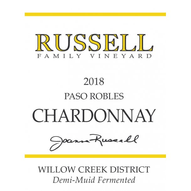 Chardonnay, Paso Robles, Russell, 2018
