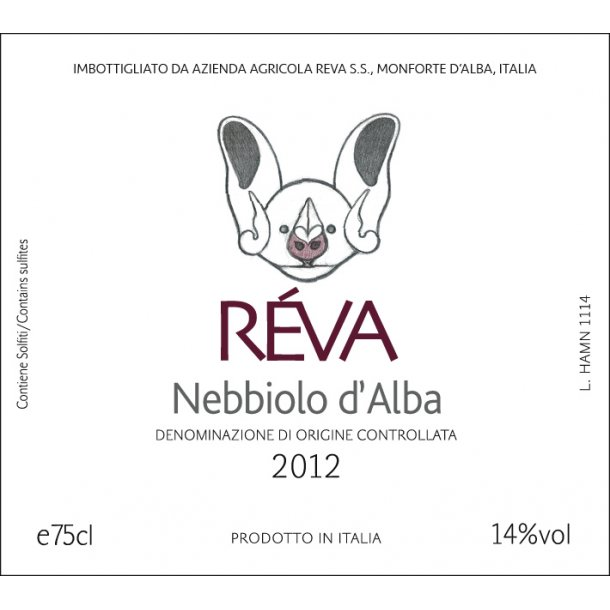 Nebbiolo d´Alba, Reva, 2016