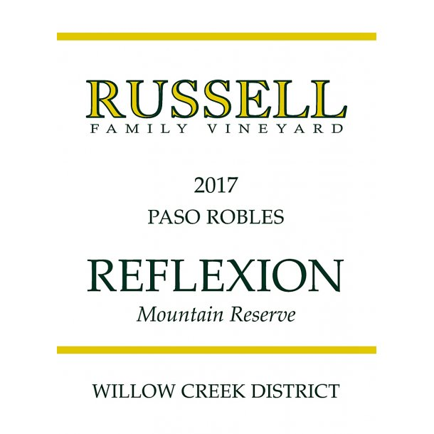 Reflexion, Willow Creek, Paso Robles, Russell Family Vineyard, 2017