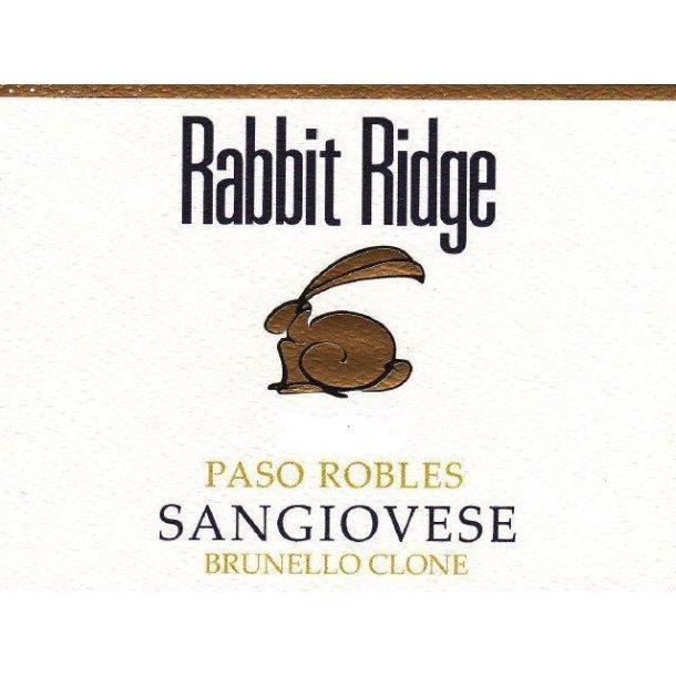 Sangiovese, Brunello Clone, Rabbit Ridge, 2016 - Pris pr. flaske ved køb af minimum 12 flasker Kr. 125 - 60 flasker: Kr .6.900