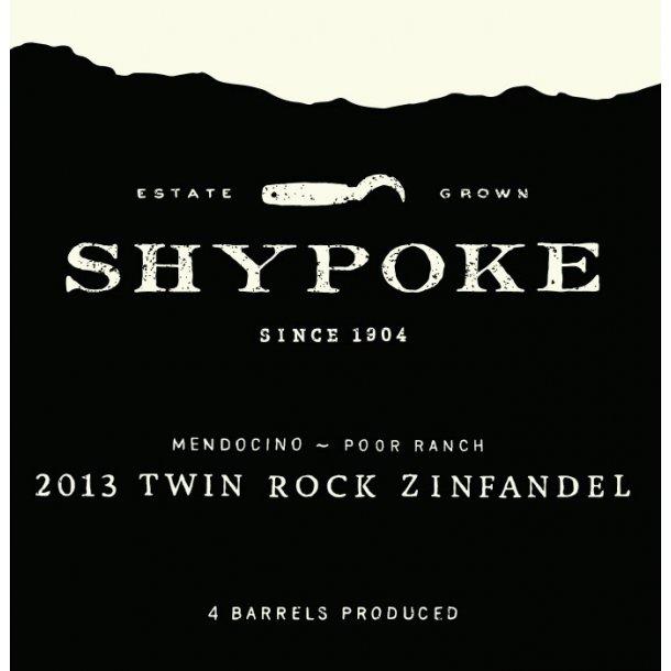 Zinfandel, Twin Rock, Poor Ranch, Mendocino, Shypoke, 2015